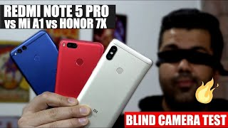 Redmi Note 5 Pro vs Mi A1 vs Honor 7x Blind Camera Test