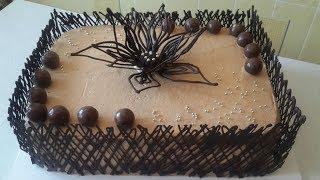 "Торт ""Шоколадли декорлар""билан/// Tort tayyorlash. Shokoladli tort tayyorlash"