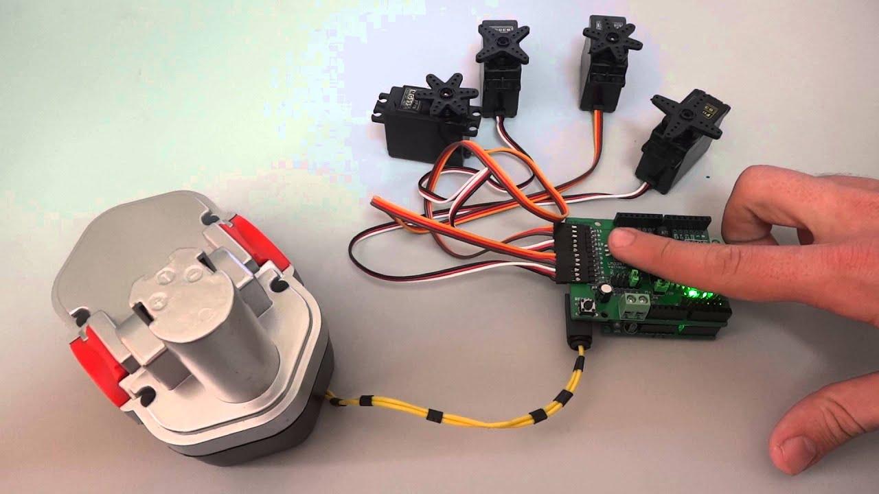 l293d схема подключения двигателей