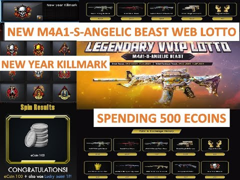 SPENDING 500 ECOINS ON NEW M4A1-S-ANGELIC BEAST VVIP LOTTO CROSSFIRE PH