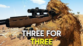 Three For Three - PlayerUnknown's Battlegrounds (PUBG)