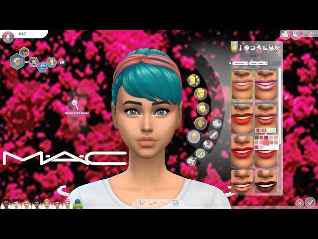 MAC rúzsok Szemhéjfesték paletta FRISSÍTÉS ingyen // The Sims 4 free update MAC Makeup For Base Game