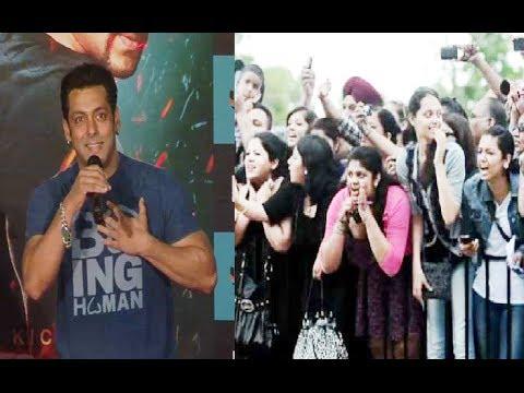 "Female Fans go crazy for Salman Khan at ""Jumme Ki Raat"" song launch from movie KICK."