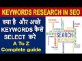 understanding keyword research for seo - what are keywords in seo - SEO Training In Hindi - Part 7