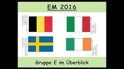 Fußball-EM 2016: Gruppe E im Überblick: Belgien, Italien, Schweden, Irland