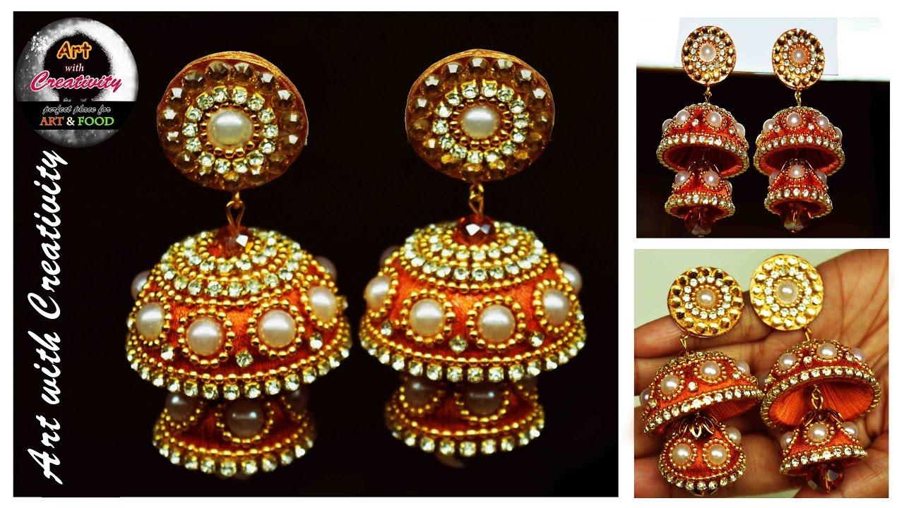 Silk thread Earring | Bridal Jhumka | Art with Creativity 128 ...
