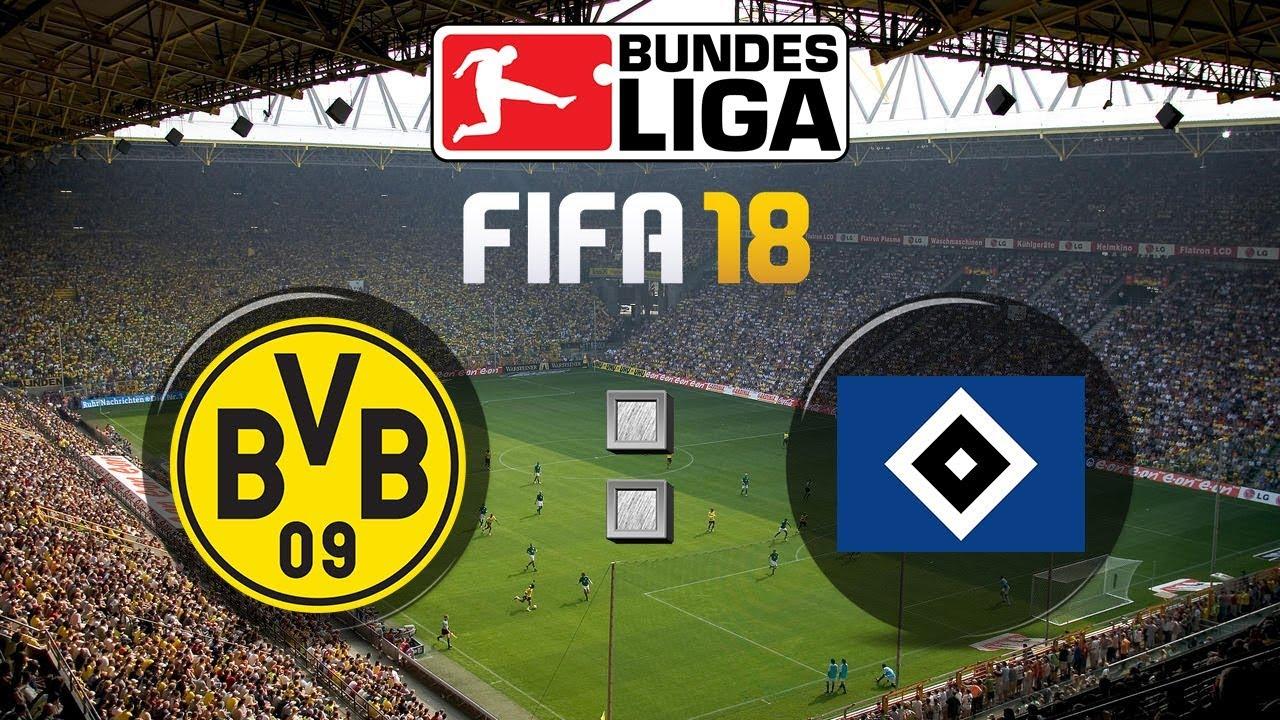 Fifa 18 Bundesliga Borussia Dortmund Hamburger Sv Gameplay