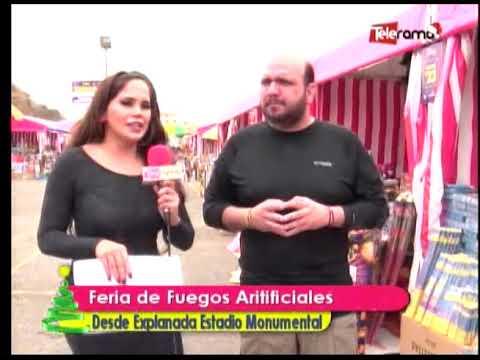 Feria de Fuegos Artificiales desde explanada Estadio Monumental