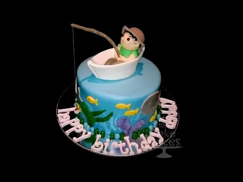 Go fishing themed cake YouTube