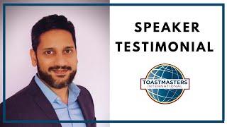 Testimonial Toastmasters Speaking Club