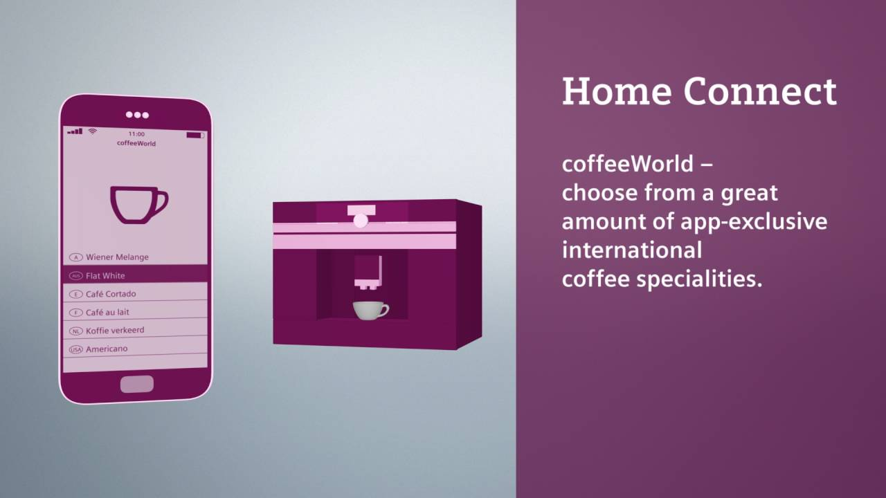 siemens home connect appliances - coffee machine - youtube