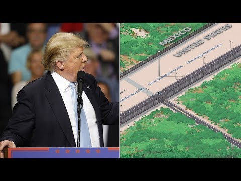 Border Wall Prototypes Begin Construction At San Diego Border (REACTION)