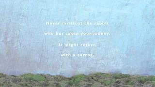 Never mistrust the rabbit who has taken your money