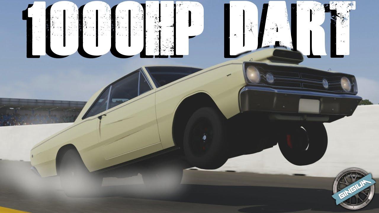dart dodge 1968 drag super hemi wheelie forza build