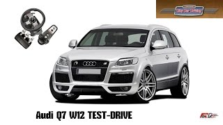 City Car Driving 1.5.1 Audi Q7 V12 TDI - тест-драйв, обзор, off-road, премиум кроссовер Logitech G27