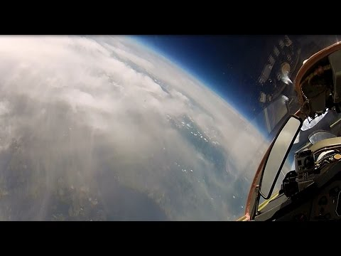 MiG-29 High Altitude Stratosphere Flight - long version 8 camera HD | flight data