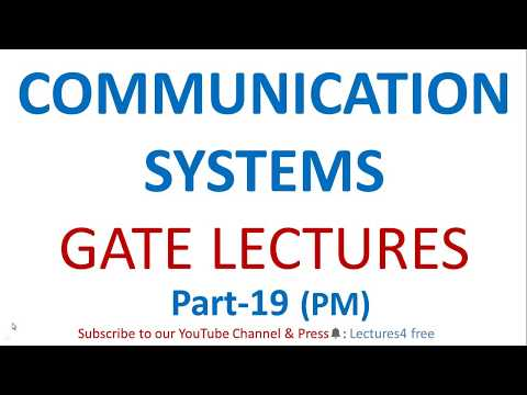 Communication Systems Part-19 (PM) || GATE Lectures for ECE || Phase Modulation