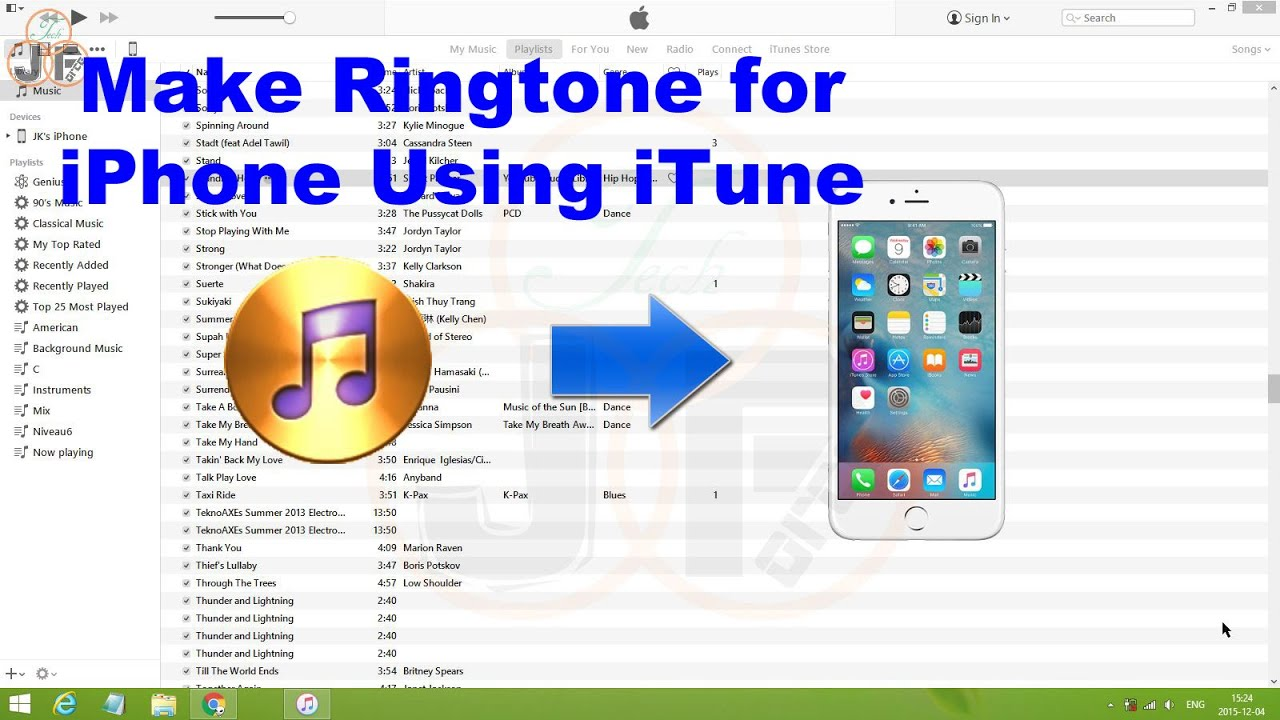 how to make youtube video ringtone iphone