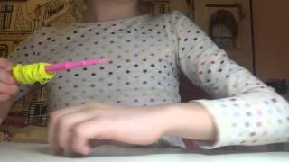Медальон из резинок rainbow loom урок 1 Автор Милана