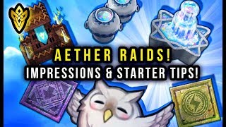 Fire Emblem Heroes - Aether Raids First Impressions & Tips for Starting Out!