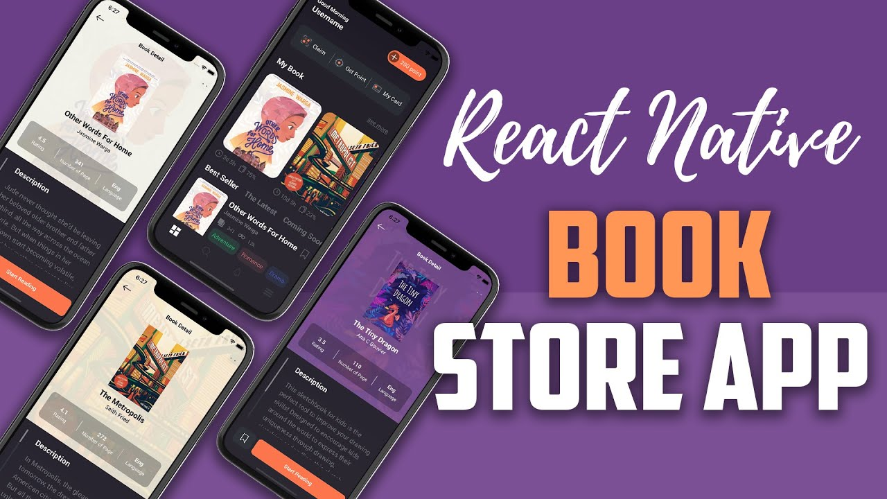 React Native UI - Book Store App