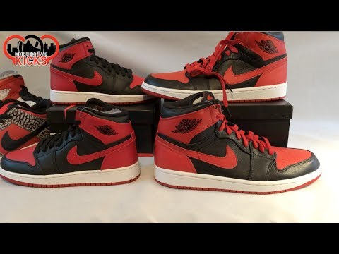 2013 BRED 1 vs 2010 BANNED 1 QUALITY COMPARISON  NIKE AIR JORDAN 1 ... 938c51d52