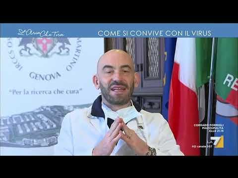 Myrta Merlino all'infettivologo Matteo Bassetti: 'Chi deve usare la mascherina chirurgica e chi ...