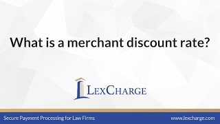 What is a merchant discount rate?