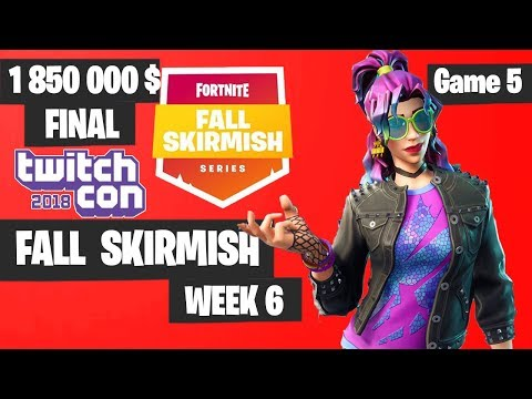 Fortnite Fall Skirmish Week 6 Grand Final Game 5 Highlights - Fortnite TwitchCon