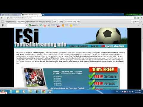 CĐ thực hành FPT - Thangnvph00867 - Hướng dẫn xem bóng đá trực tiếp qua Sopcast
