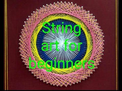 Thread pattern round | String Art Tutorial For Beginners | String Art| Kids Toys Crafts thumbnail