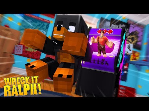 Minecraft HELLO NEIGHBOR - WRECK IT RALPH CAPTURES DONUT & SUCKS HIM INTO A COMPUTER GAME!!