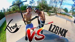 TANNER FOX VS MAVERICK LEONARD GAME OF SCOOT AT ADAM LZ HOUSE !!!