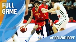 Lithuania v Spain - Full Game - Final - FIBA U20 European Championship 2016