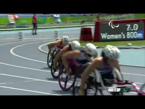 Jessica Lewis In Paralympic Games 800m Heats, Sept 17 2016