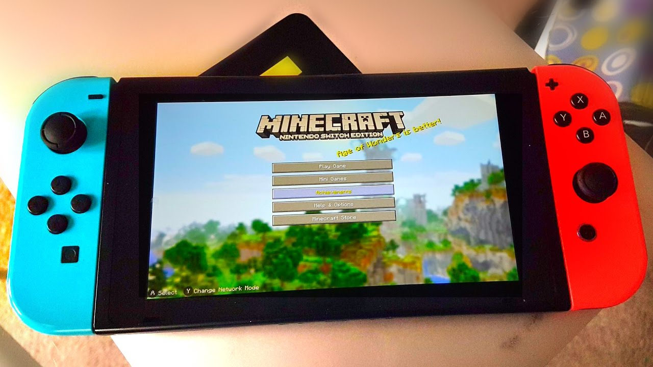 MINECRAFT SWITCH EDITION Vs YouTube - Minecraft spiele switch