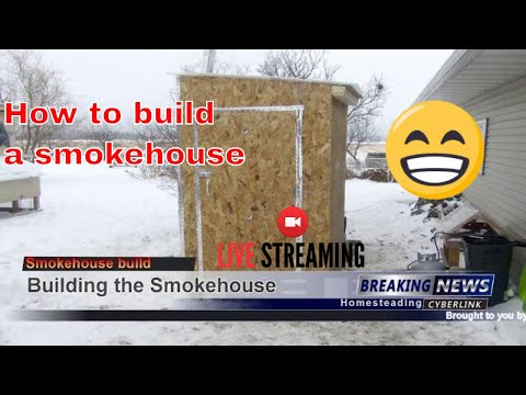 How to build a Smokehouse  with wood fire box