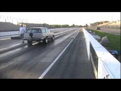 Malibu wagon on drag radials