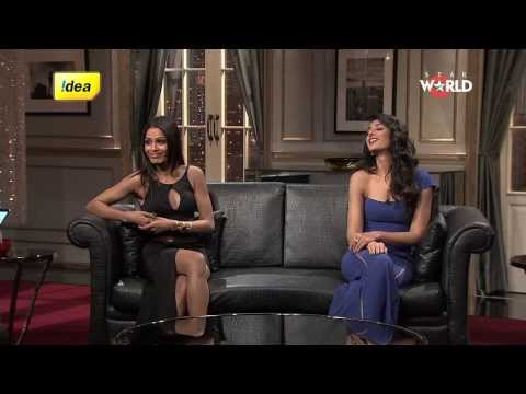 Freida & Nargis On The Couch Of Koffee With Karan