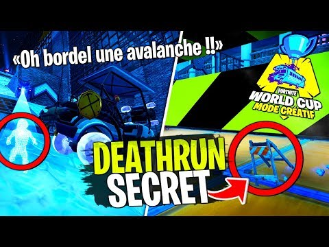 On test le Deathrun secret de la World Cup avec Doc Jazy et Dobby sur Fortnite Créatif !
