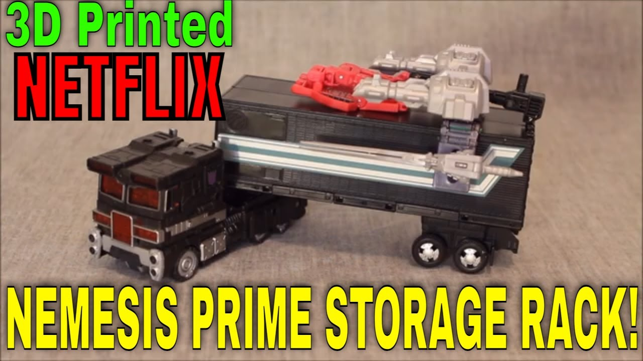 3D Printed Netflix Nemesis Prime Storage Rack Upgrade