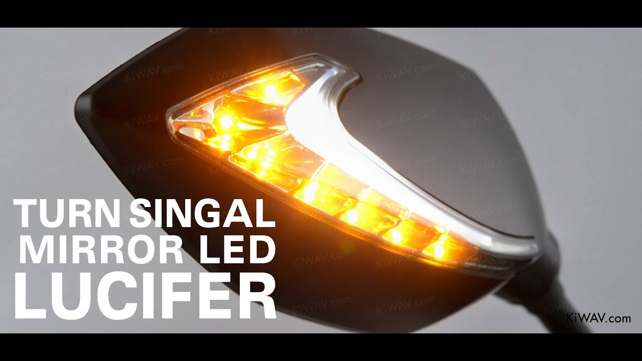 Motorcycle Mirrors Lucifer Two Tone Color Led Lights