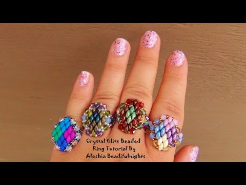 Crystal Glitz Beaded Ring Tutorial