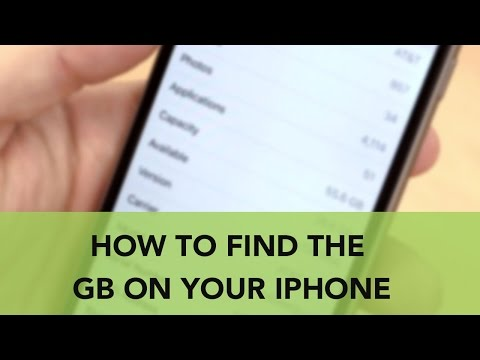 How to Find the GB on your iPhone