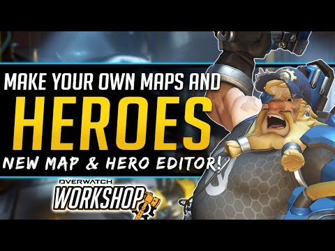 Overwatch NEW Map Gamemode and Hero Editor - Build your own! - NEW Workshop Feature