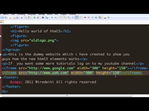 Html 5 Tutorial - 15 - Using Iframe Element To Create Browser Window.mp4