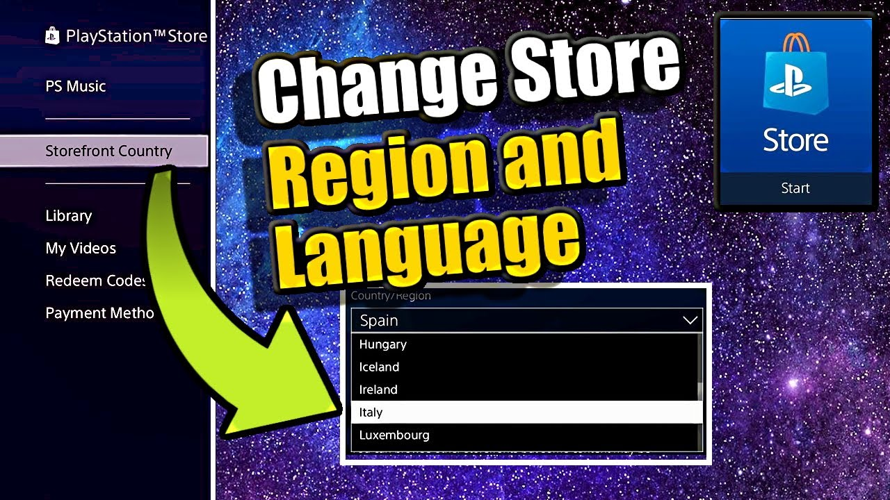 How To Change Psn Country Region And Change Language In