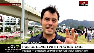 UPDATE: Chaos in Hong Kong as police clash with protestors