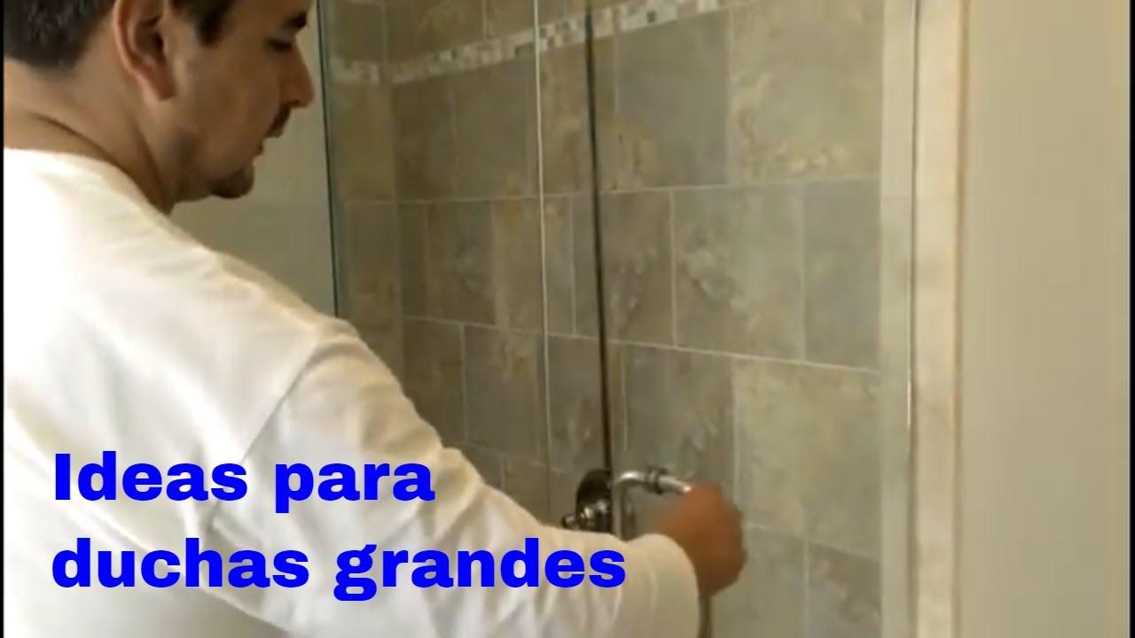 duchas con puertas de vidrio