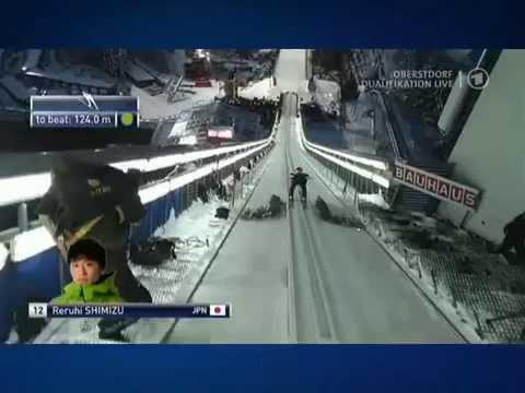 Reruhi Shimizu Crash Obersdorf 27.12.2014 Qualifikation